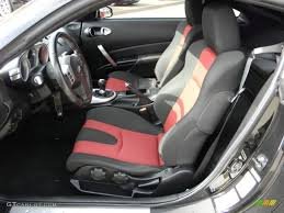 black nissan inside nismo black red interior 2008 nissan 350z nismo coupe photo