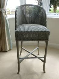 Lloyd Loom Bistro Chair Lloyd Loom Bistro Bar Stool Grey For Kitchen Bedsits