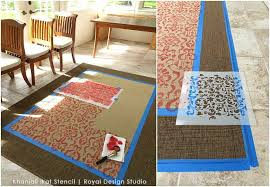 Ikea Kilim Rug Ikea Rug Hack Stenciling An Oriental Ikat Carpet Paint Pattern