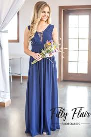 navy bridesmaid dresses manda bridesmaid dress in navy blue filly flair