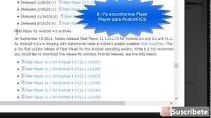 flash player 11 1 apk como descargar flash player para android apk oficial