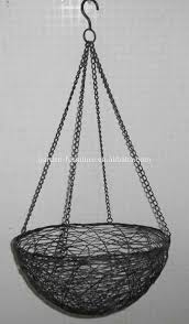 hanging planter basket wholesale handicraft garden outdoor decor hanging flower pot wrought