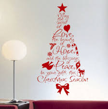 spirit of love christmas tree holiday decal vinyl wall lettering