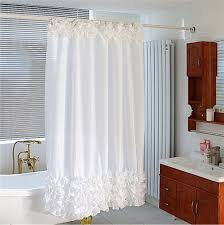 Brown Floral Shower Curtain Floral Pattern Fabric Shower Curtains White Bathtub I Grey Tiles