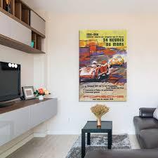 356 u0026 spyder le mans racing vintage poster
