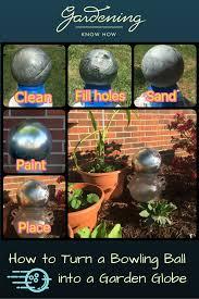 Gazing Globe Pedestal How To Turn A Bowling Ball Into A Garden Globe Gardening Know