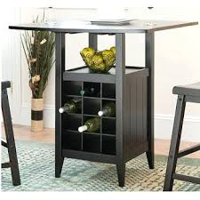 Drop Leaf Bar Table Height Table With Wine Storage Dining Table With Wine Storage