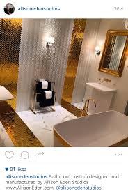 gold silver bathroom tile dig this design