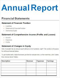 Detailed Expense Report Template by Simple Annual Financial Report Template With Form And Detailed