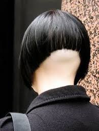 bobbed haircut with shingled npae bleached with buzzed nape 16801 high shaved close clippered