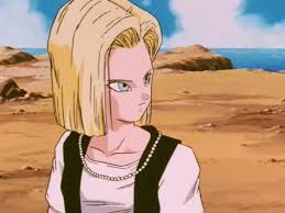 android 18 and cell image android 18 being cautioned png team four wiki