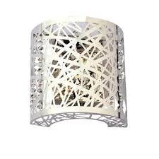 Lighting Wall Sconces Luxury Crystal Chrome Finish Etched 1 Light Wall Lamp Modern