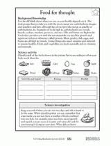 5th grade science worksheets a healthy diet is a balancing act