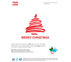 email template greeting happy holidays tree christmas red