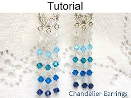Chandelier Earrings Earrings Beading Tutorial Pattern Earrings Wire Working Chain Jewelry