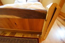 Timber Frame Bed Handcrafted Timber Framed Bed Built With Mixed Wood Species