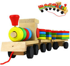 aliexpress com buy free shipping baby toys wooden stacking train
