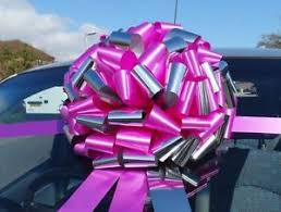 large gift bow car bow large gift bow in a shiny metallic mix superfast