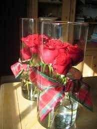 Wide Glass Cylinder Vase Buy Some Red Roses And Stack Them Closely Inside A Glass Cylinder