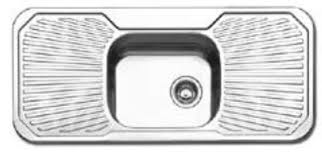 Oliveri Single Bowl Double Drainer Kitchen Sink PE - Double drainer kitchen sink