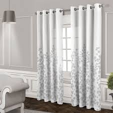 wilshire sheer grommet curtain panel white 84 in at home at home