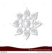 thai ornament design card paper 3d illustration 44170900