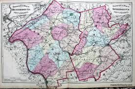 Map Of Middlesex County Nj Topographical Map Of Hunterdon And Somerset Counties New Jersey