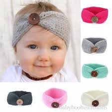 baby headwrap luxury button handmade knitted baby headwrap