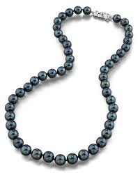 fashion jewelry pearls necklace images 8 0 8 5mm japanese akoya black pearl necklace aa quality jpg