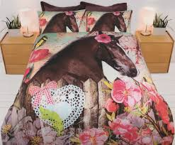 horse blooms quilt cover set from kids bedding dreams horse pony