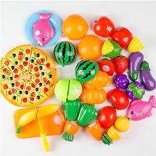 simulation de cuisine 16 pcs prétendre jouer coupe légumes jouet miniature food kid de