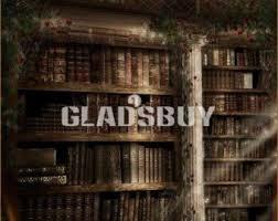 Bookcase Backdrop Retro Bookshelf Etsy