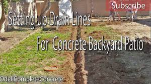 How To Pour Concrete Patio How To Setup Drain Lines For A Concrete Patio Pour Youtube