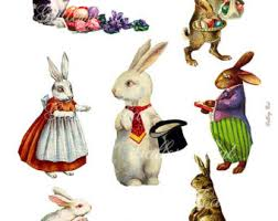 vintage rabbit vintage easter bunny etsy studio