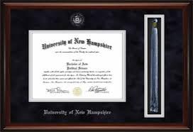 graduation tassel frame of new hshire unh diploma tassel frame 7041