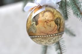 decoupage bauble with an diy handmade