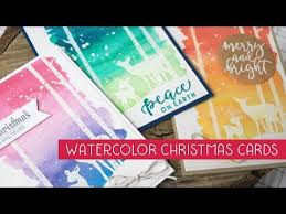 easy watercolor christmas cards u0026 tips for mass producing with