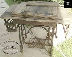repurposed dining table repurposed treadle sewing machine to dining table hometalk