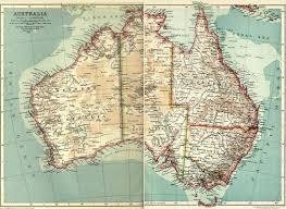 Australian Map Vintage Australian Map Reusableart Com