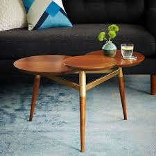 West Elm Coffee Table Clover Coffee Table Walnut Antique Brass West Elm