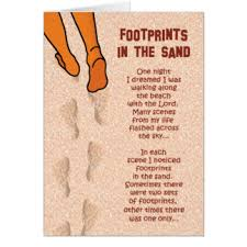 footprints in the sand gifts footprints in the sand poem cards invitations zazzle co uk