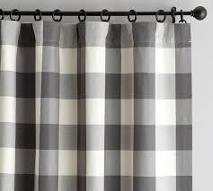 buffalo check drape pottery barn