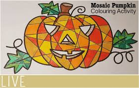 mosaic pumpkin colouring activity everythingmom