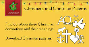 chrismons and chrismon patterns to customs