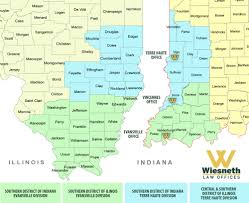 Map Of Illinois And Indiana by Free Consultation Wiesneth Law Offices