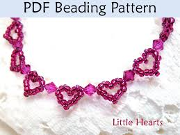 bead bracelet easy images Beading tutorial pattern bracelet beaded heart jewelry simple 37263