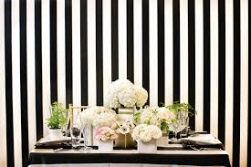wedding backdrop linen chic black and white striped wedding britt rene photography
