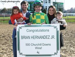 brian hernandez jr hits churchill downs milestone racing