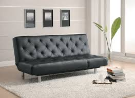 black tufted faux leather adjustable sofa bed futon lowest price