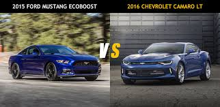 ford mustang 4 cylinder friday 2015 ford mustang ecoboost vs 2016 chevrolet